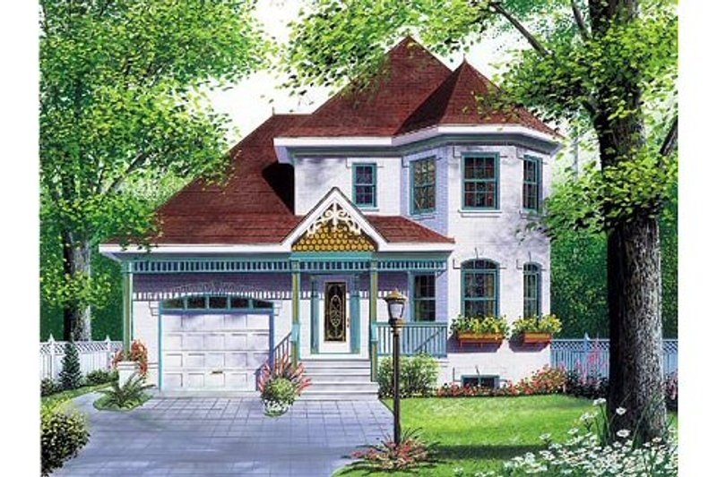 Victorian Exterior - Front Elevation Plan #23-2001