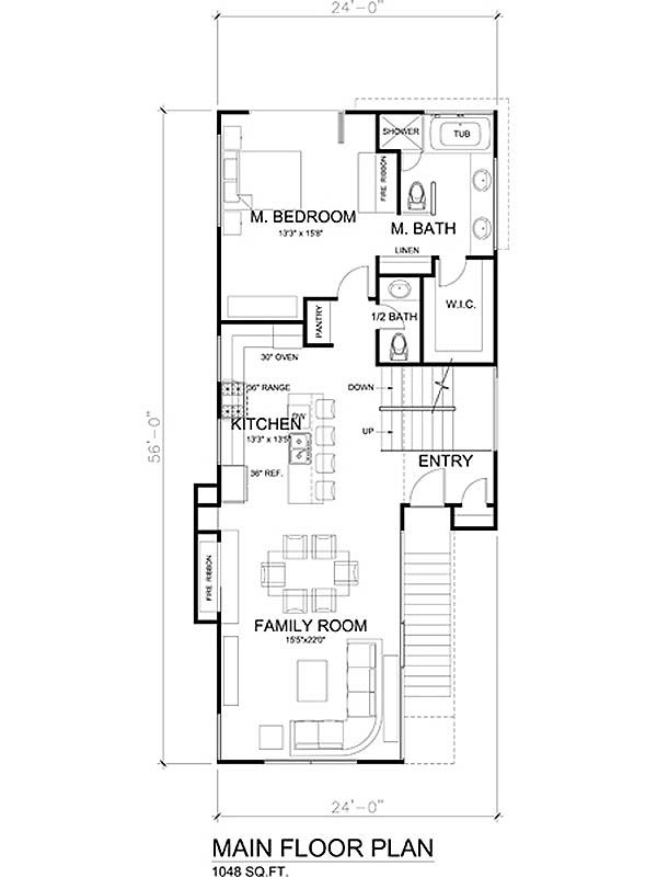 Modern Floor Plan - Main Floor Plan Plan #484-1