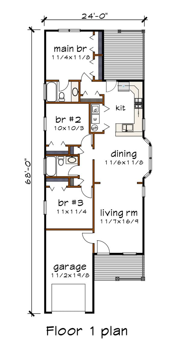 Dream House Plan - Traditional Floor Plan - Main Floor Plan #79-149