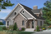 Cottage Style House Plan - 3 Beds 2 Baths 1625 Sq/Ft Plan #23-2047 Exterior - Front Elevation