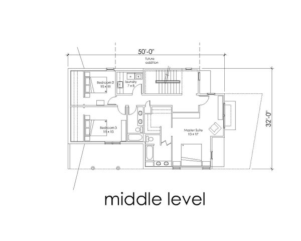 Modern Floor Plan - Main Floor Plan Plan #902-4