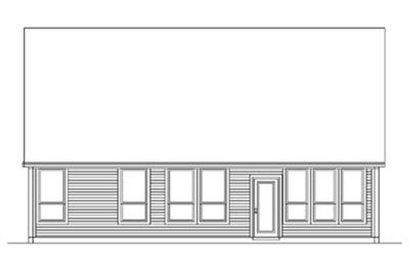 Craftsman Exterior - Rear Elevation Plan #84-265 - Houseplans.com