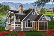 Craftsman Style House Plan - 4 Beds 3 Baths 3011 Sq/Ft Plan #70-1204 Exterior - Rear Elevation