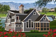 House Plan Design - Craftsman Exterior - Rear Elevation Plan #70-1204