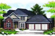 Colonial Style House Plan - 4 Beds 2.5 Baths 2596 Sq/Ft Plan #70-625 Exterior - Front Elevation