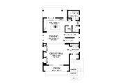 Contemporary Style House Plan - 3 Beds 2.5 Baths 2498 Sq/Ft Plan #48-991 Floor Plan - Main Floor Plan