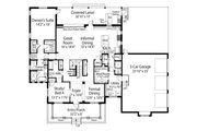 Southern Style House Plan - 3 Beds 4.5 Baths 3544 Sq/Ft Plan #938-93 Floor Plan - Main Floor Plan