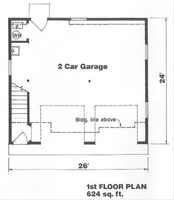 Farmhouse Floor Plan - Main Floor Plan Plan #116-129