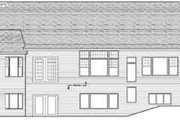 Traditional Style House Plan - 3 Beds 2.5 Baths 3772 Sq/Ft Plan #51-208 Exterior - Rear Elevation