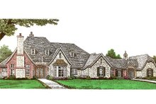 European Exterior - Front Elevation Plan #310-666