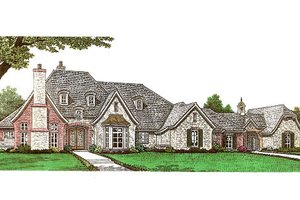 House Plan Design - European Exterior - Front Elevation Plan #310-666
