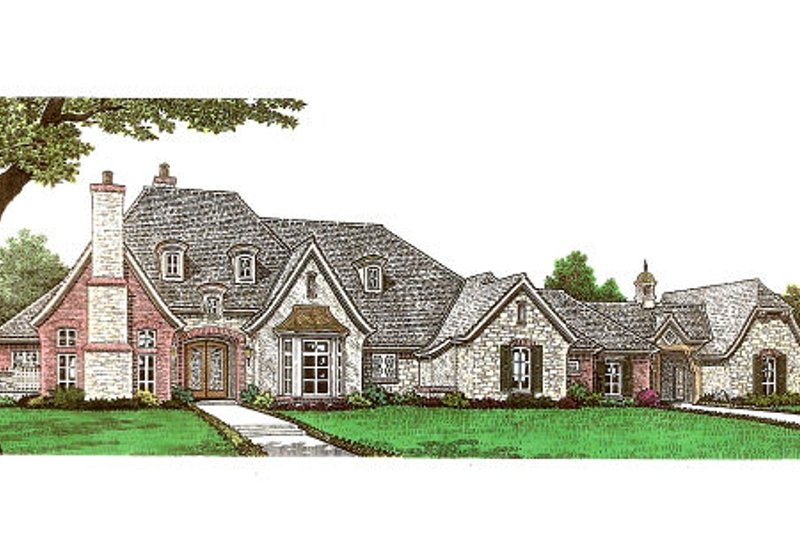 House Plan Design - European Exterior - Front Elevation Plan #310-666