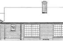 Ranch Exterior - Rear Elevation Plan #72-444