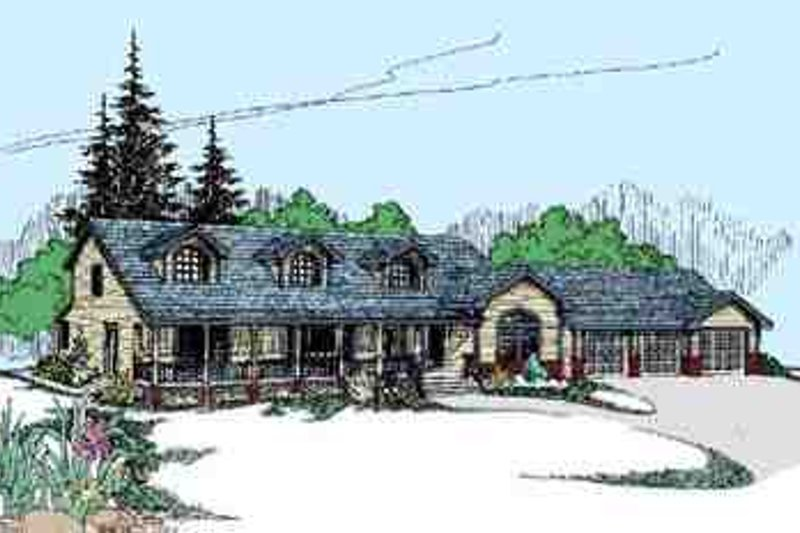 Traditional Exterior - Front Elevation Plan #60-627 - Houseplans.com