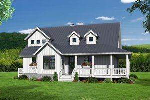 Dream House Plan - Country Exterior - Other Elevation Plan #932-33