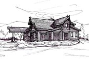 Craftsman Style House Plan - 5 Beds 6.5 Baths 5039 Sq/Ft Plan #921-3 Exterior - Other Elevation