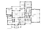 Southern Style House Plan - 5 Beds 4.5 Baths 5498 Sq/Ft Plan #1058-178 Floor Plan - Main Floor Plan