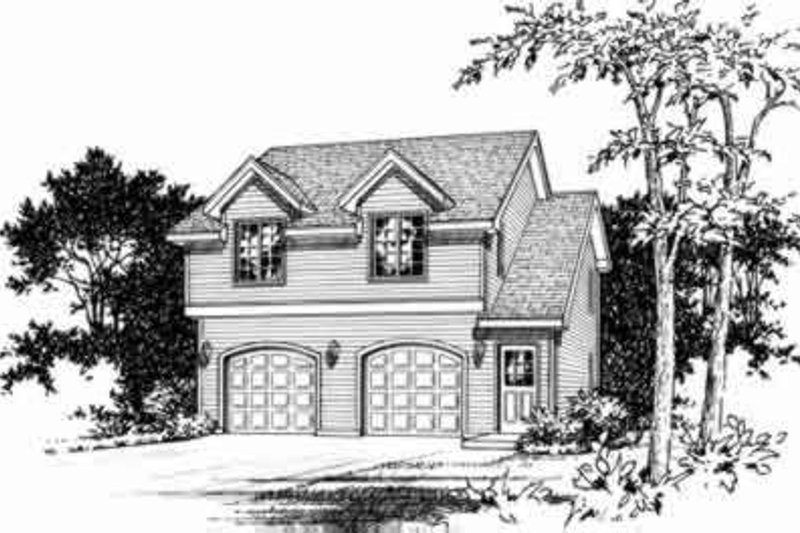 Home Plan - Traditional Exterior - Front Elevation Plan #22-460