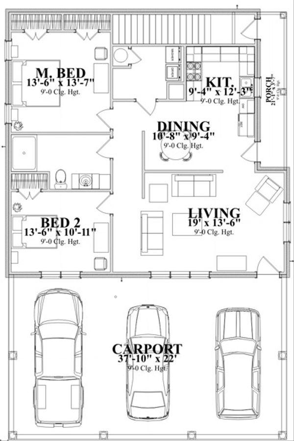 Traditional Floor Plan - Main Floor Plan Plan #63-340
