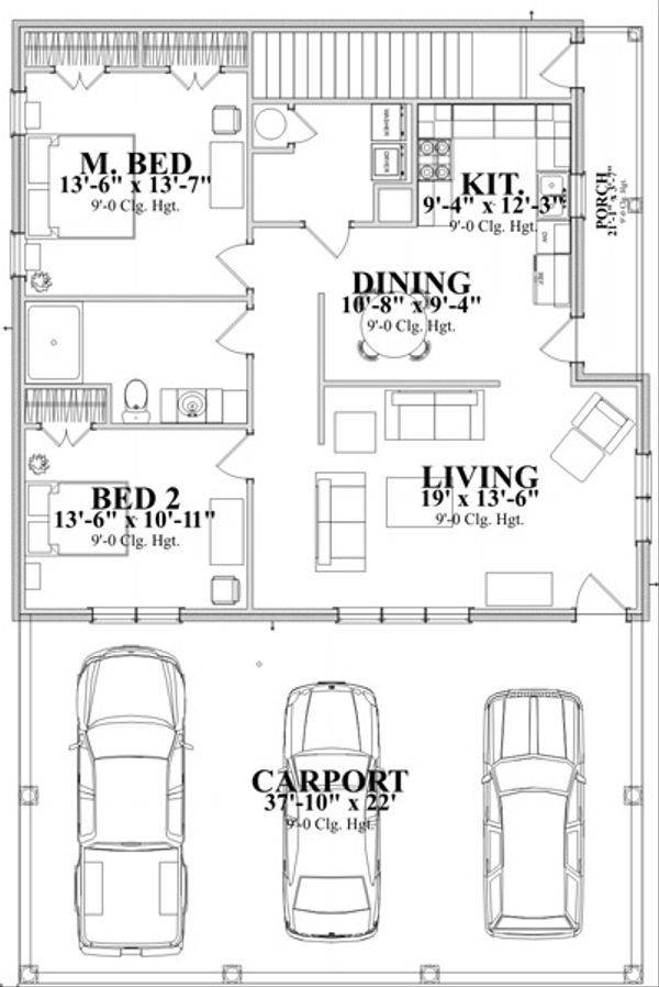 Traditional Floor Plan - Main Floor Plan Plan #63-340