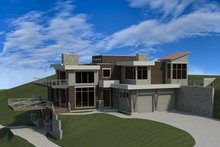 Dream House Plan - Modern Exterior - Front Elevation Plan #920-91