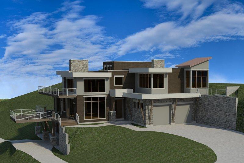 Home Plan - Modern Exterior - Front Elevation Plan #920-91