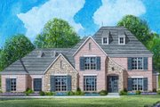 European Style House Plan - 4 Beds 3 Baths 3508 Sq/Ft Plan #424-359 Exterior - Front Elevation