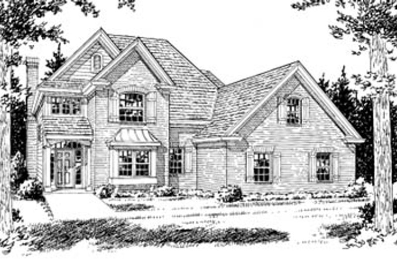 Traditional Style House Plan - 3 Beds 2.5 Baths 2181 Sq/Ft Plan #20-378 Exterior - Front Elevation
