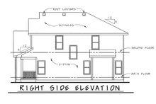 Craftsman Exterior - Rear Elevation Plan #20-1776