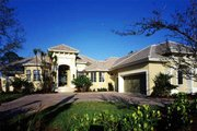 Mediterranean Style House Plan - 3 Beds 4.5 Baths 4534 Sq/Ft Plan #930-312 Exterior - Front Elevation