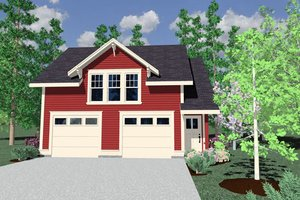 Country Exterior - Front Elevation Plan #509-39