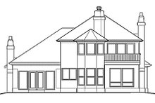 Mediterranean Exterior - Rear Elevation Plan #48-336