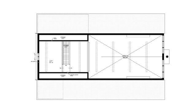 Farmhouse Floor Plan - Upper Floor Plan Plan #889-2