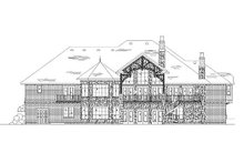 House Plan Design - European Exterior - Rear Elevation Plan #5-316