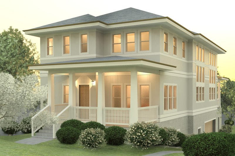 Craftsman Style House Plan - 3 Beds 2.5 Baths 2797 Sq/Ft Plan #926-3 Exterior - Front Elevation