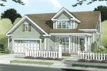 Home Plan Design - Traditional Exterior - Front Elevation Plan #513-2052