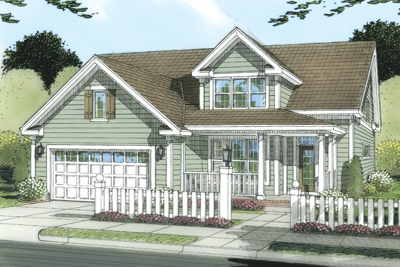 Traditional Exterior - Front Elevation Plan #513-2052 - Houseplans.com