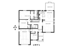 Craftsman Floor Plan - Main Floor Plan Plan #23-2641