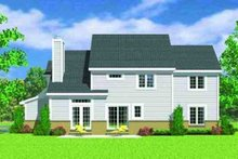 European Exterior - Rear Elevation Plan #72-228
