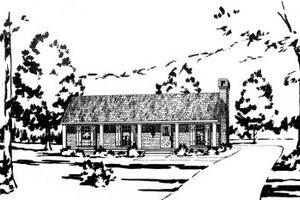Country Exterior - Front Elevation Plan #36-263