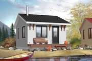 Cottage Style House Plan - 1 Beds 1 Baths 320 Sq/Ft Plan #23-2287