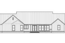 House Plan Design - Farmhouse Exterior - Rear Elevation Plan #1074-39