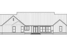 House Blueprint - Farmhouse Exterior - Rear Elevation Plan #1074-39