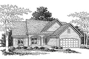 Traditional Exterior - Front Elevation Plan #70-142