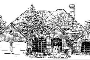 Colonial Exterior - Front Elevation Plan #310-715