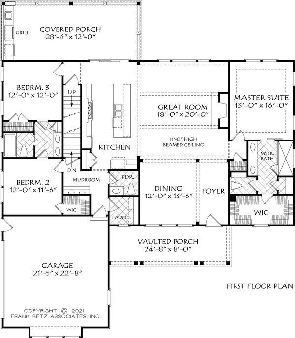 Home Plan - Ranch Floor Plan - Main Floor Plan #927-1018
