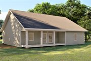 Southern Style House Plan - 3 Beds 2 Baths 1493 Sq/Ft Plan #44-252 Exterior - Rear Elevation