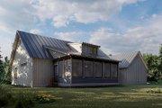 Farmhouse Style House Plan - 3 Beds 3 Baths 2540 Sq/Ft Plan #923-173 Exterior - Rear Elevation