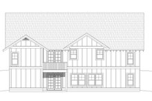 Architectural House Design - Cottage Exterior - Rear Elevation Plan #932-326