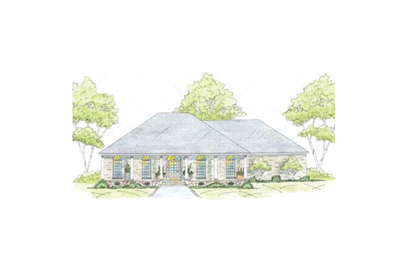 Southern Exterior - Front Elevation Plan #36-445 - Houseplans.com